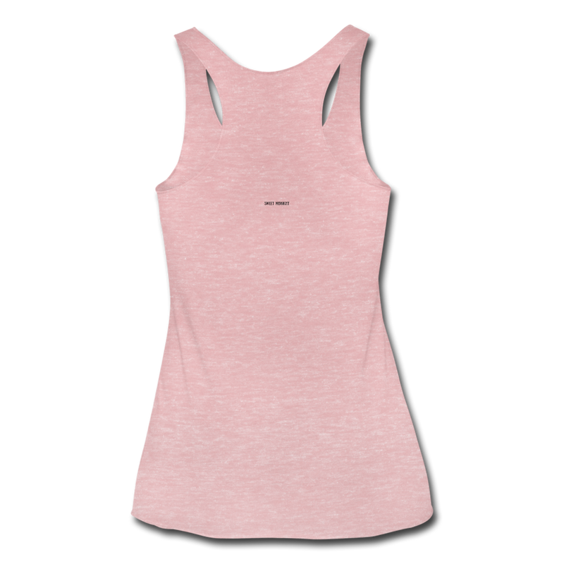 The Creature Reacher Women's Tri-Blend Racerback Tank - heather dusty rose