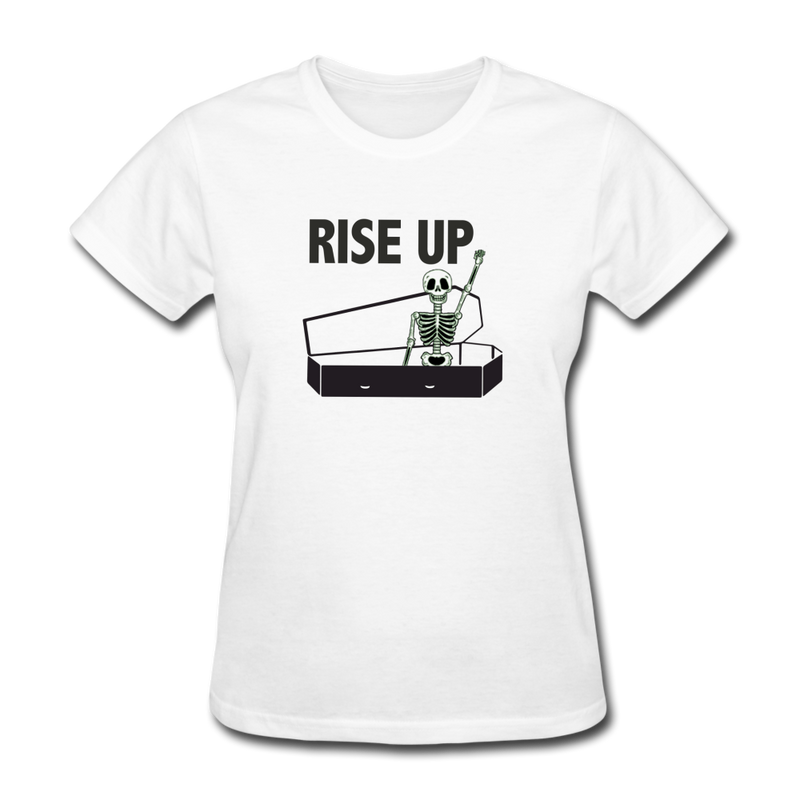 Rise Up Women's T-Shirt - white