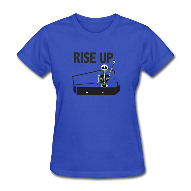 Rise Up Women's T-Shirt - royal blue