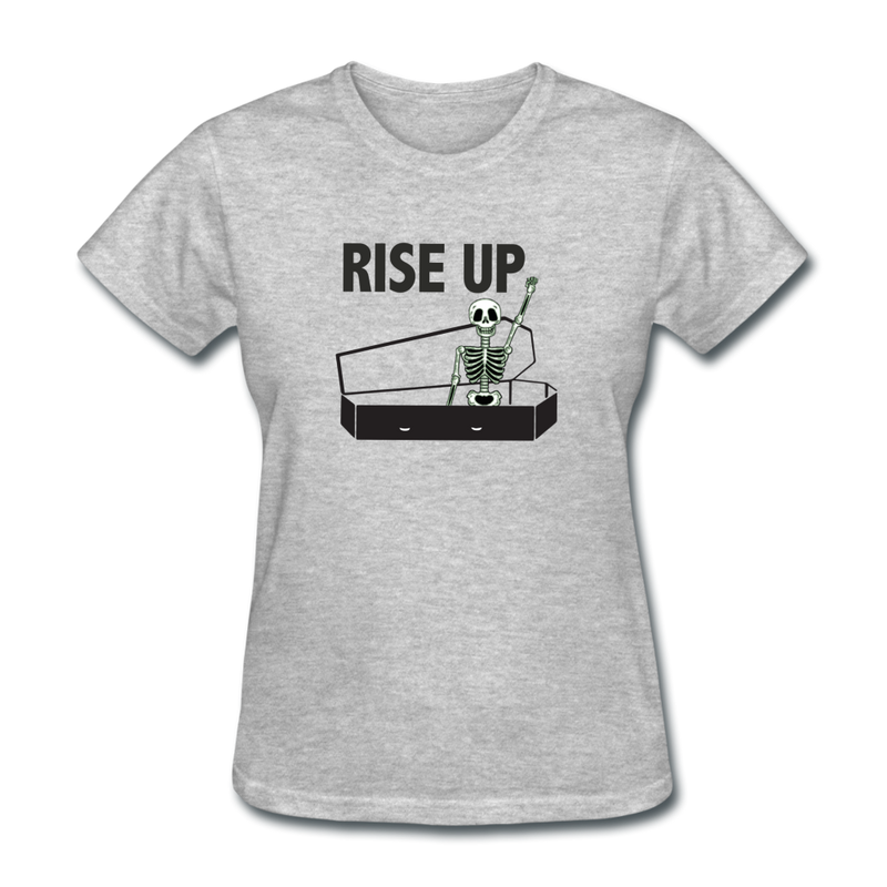 Rise Up Women's T-Shirt - heather gray