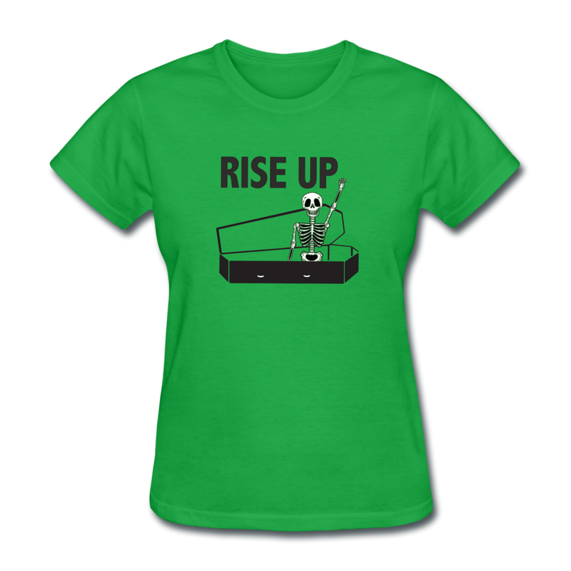 Rise Up Women's T-Shirt - bright green
