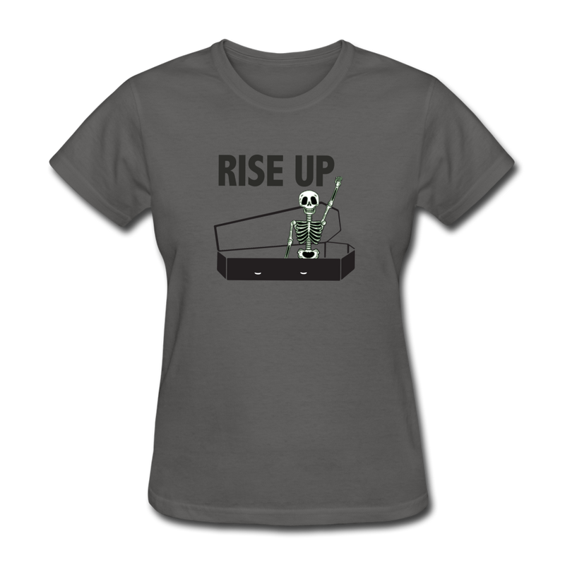 Rise Up Women's T-Shirt - charcoal