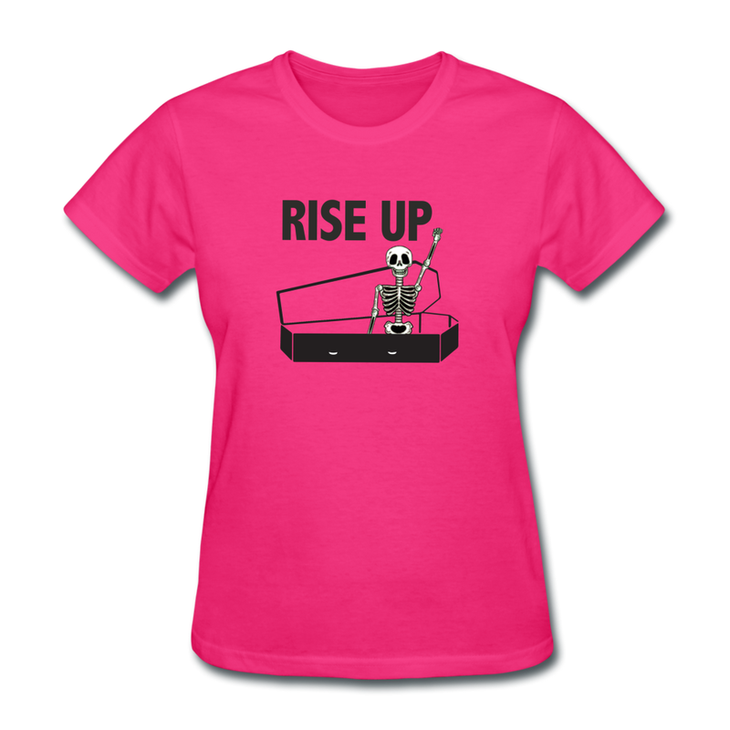 Rise Up Women's T-Shirt - fuchsia