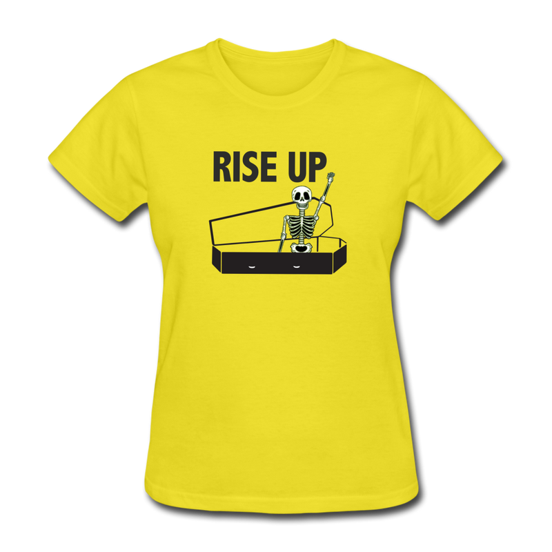 Rise Up Women's T-Shirt - yellow
