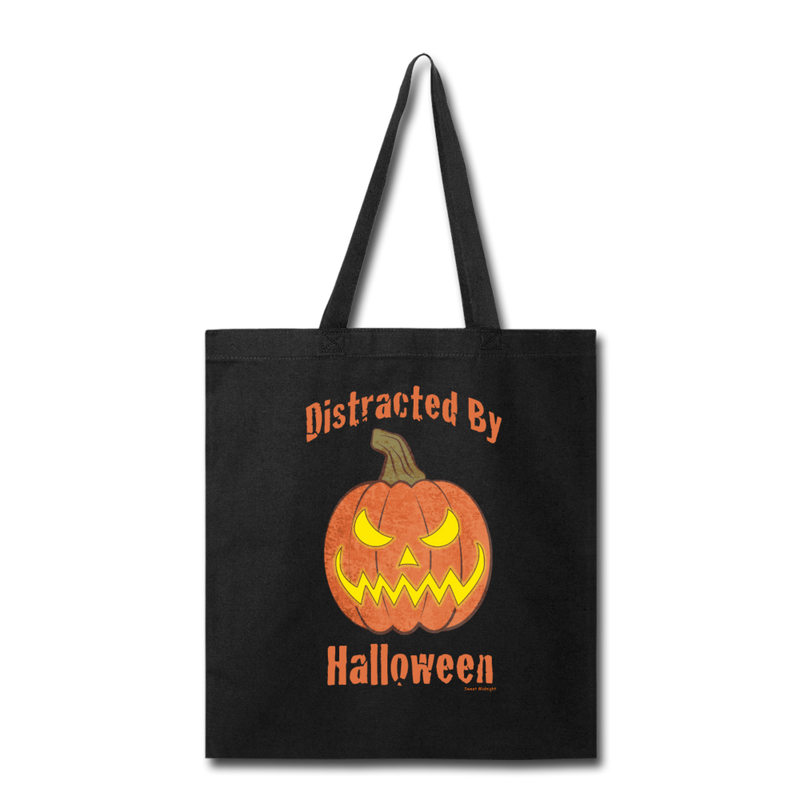 Distracted by Halloween Tote Bag - black