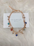 Evil Eye Anklet - Gold