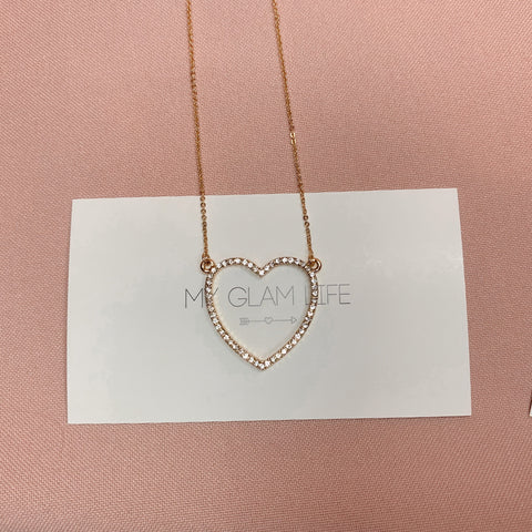 Mia Heart Necklace - Gold