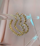 Daisy Heart Hoops - Gold