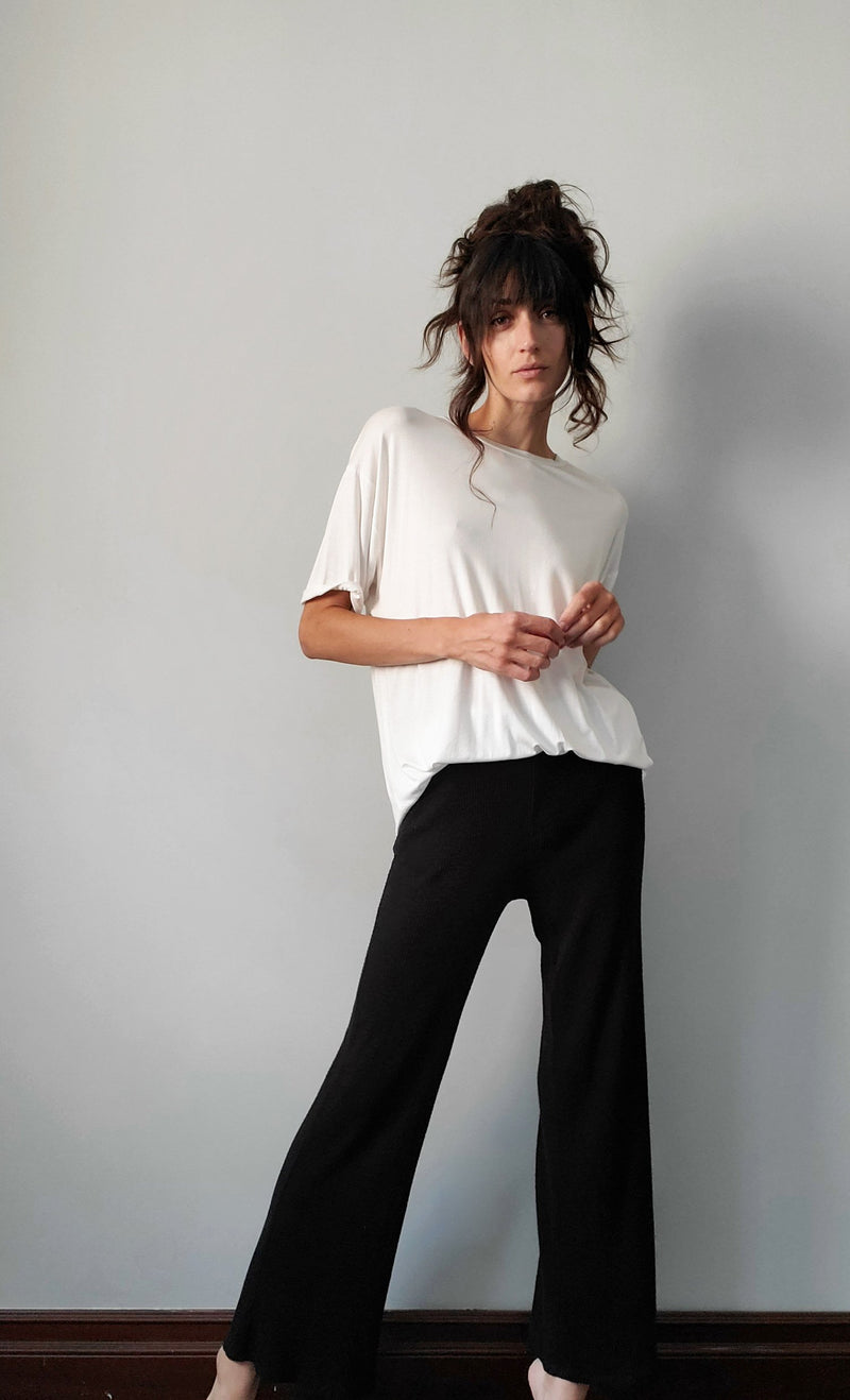 Erin Wide Leg Ribbed Cozy Pant