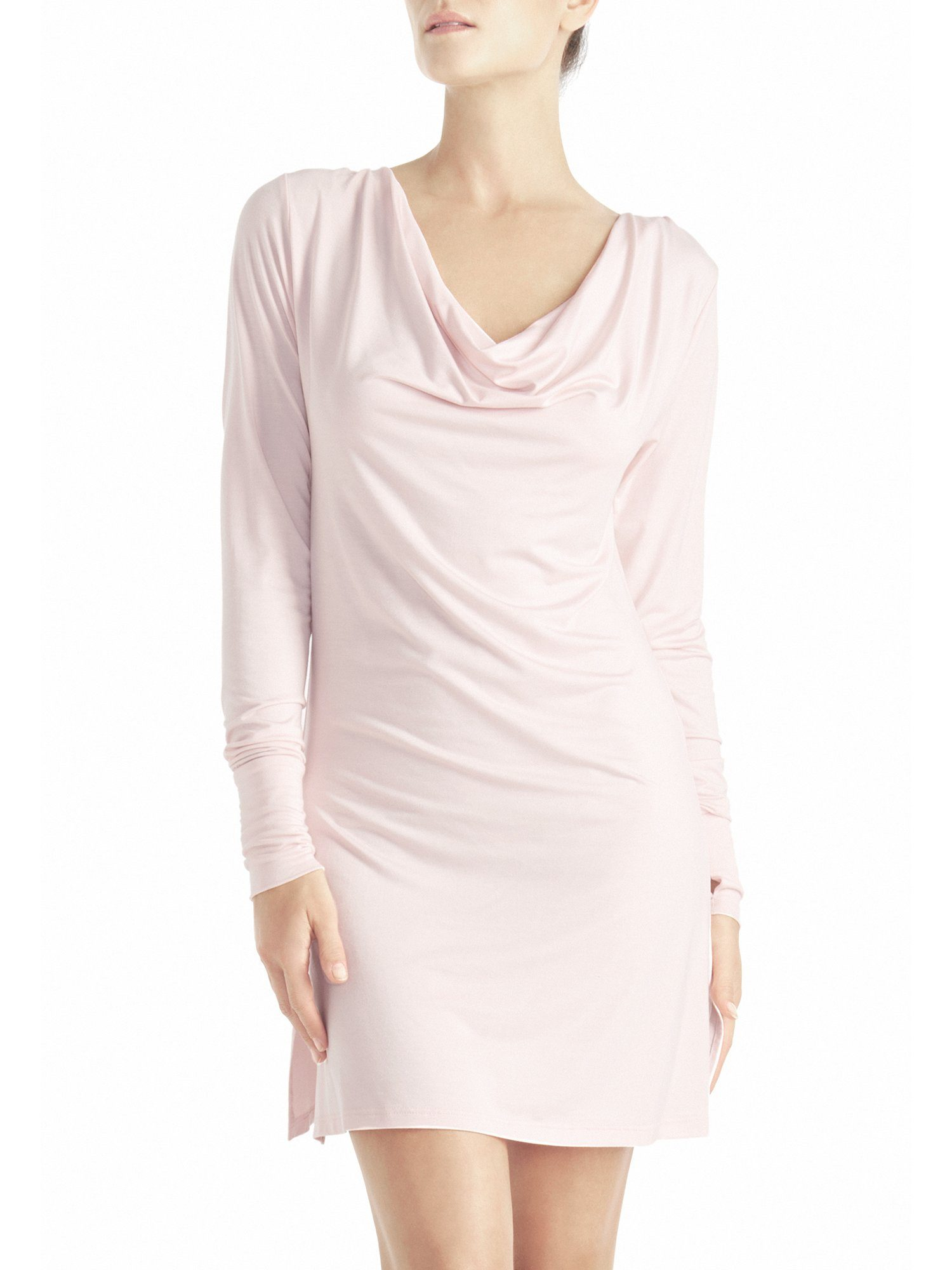 Naked Princess Long Sleeve Cowl Dress Blush Pink