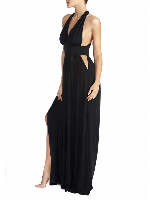 Naked Princess Signature Modal Maxi Dress Black