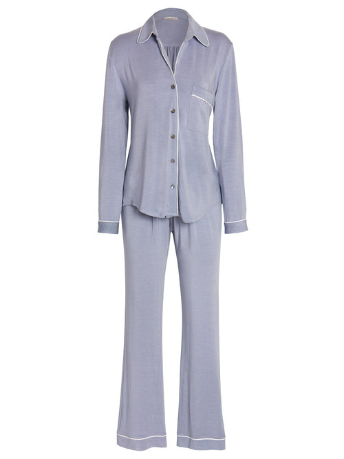 Amanda Piped Pajama Set Pajama Sets by Le Marché by NP