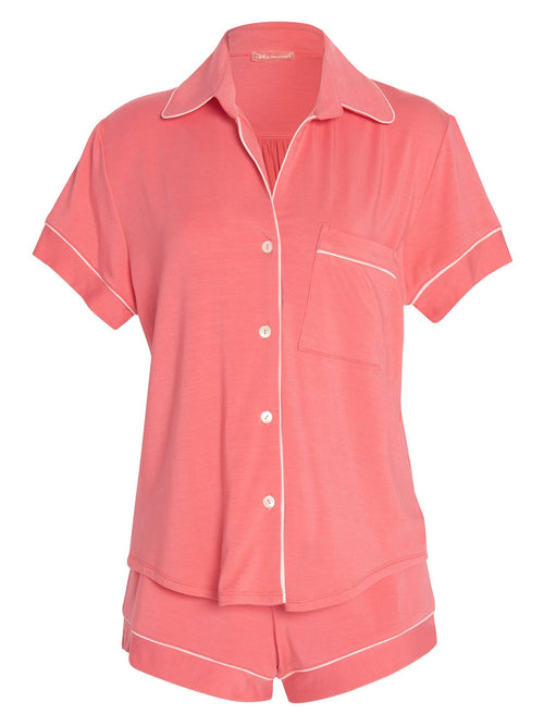 Amanda Short Sleeve Piped PJ Set