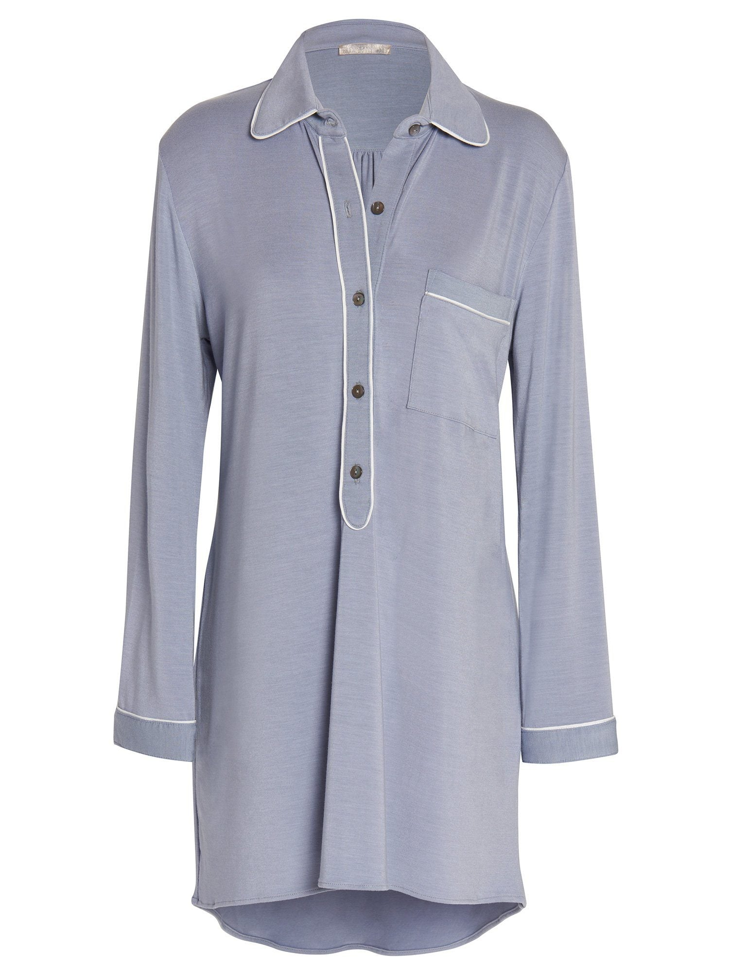 Amanda Piped Sleepshirt Dresses by Le Marché by NP