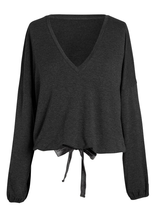 Ava V Neck Dolman Tops by Le Marché by NP
