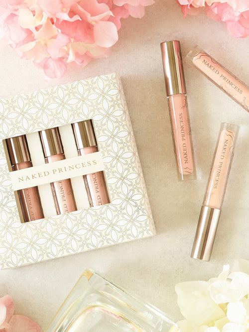 Naked Princess Naked Shine Trio Light Nudes Lip Gloss Set