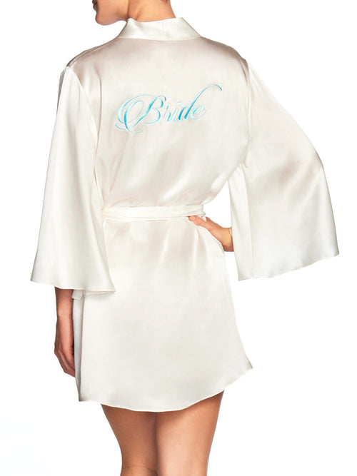 Bridal Robe - Bride in Blue Robes by Naked Princess
