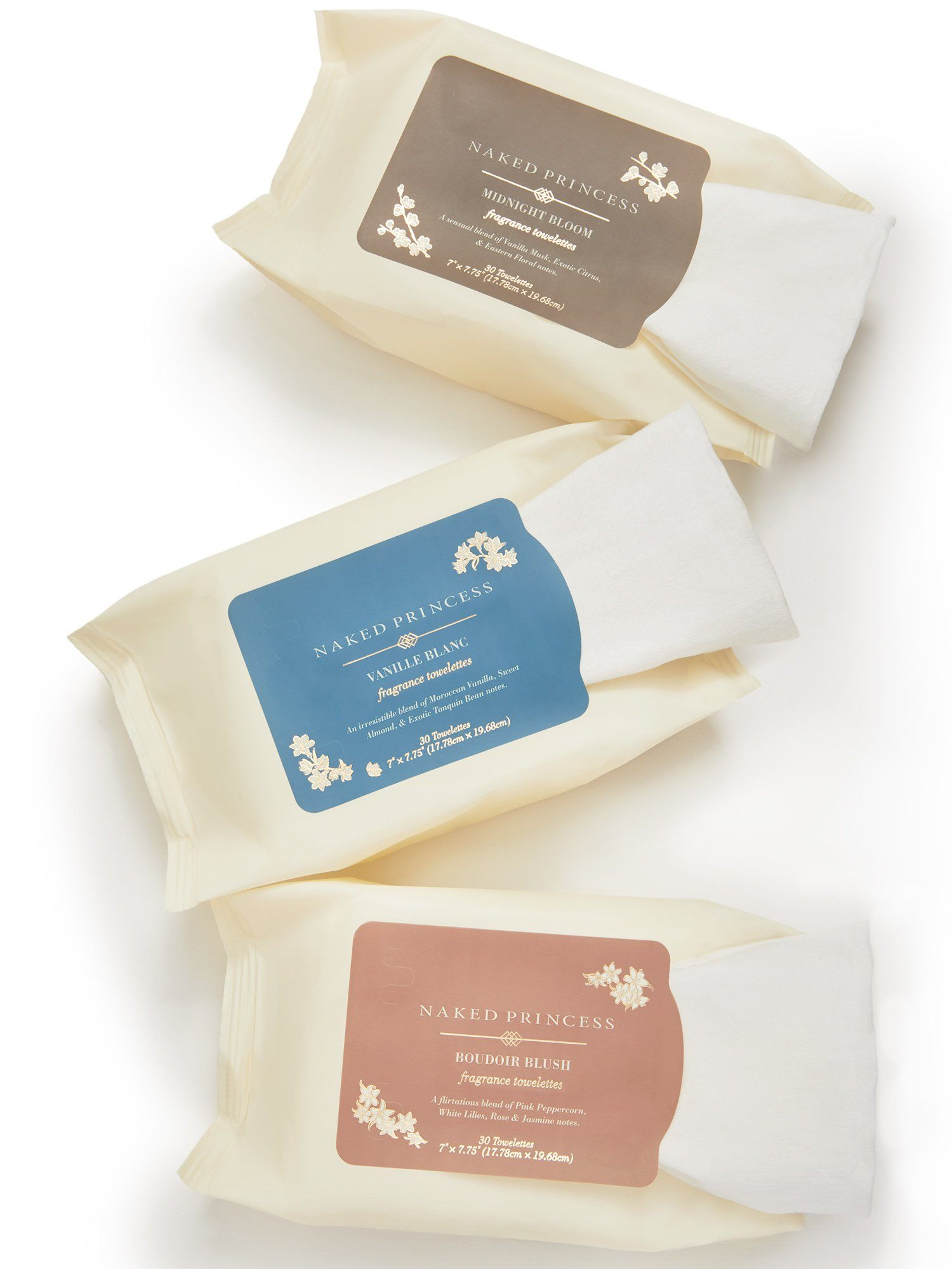 Fragrance Towelettes - Vanille Blanc Cleanse by Le Marché by NP