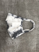 Face Mask: White with Grey Tie Dye