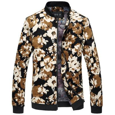 Active Jackets - Hawaii Floral Print Designer Bomber Jacket
