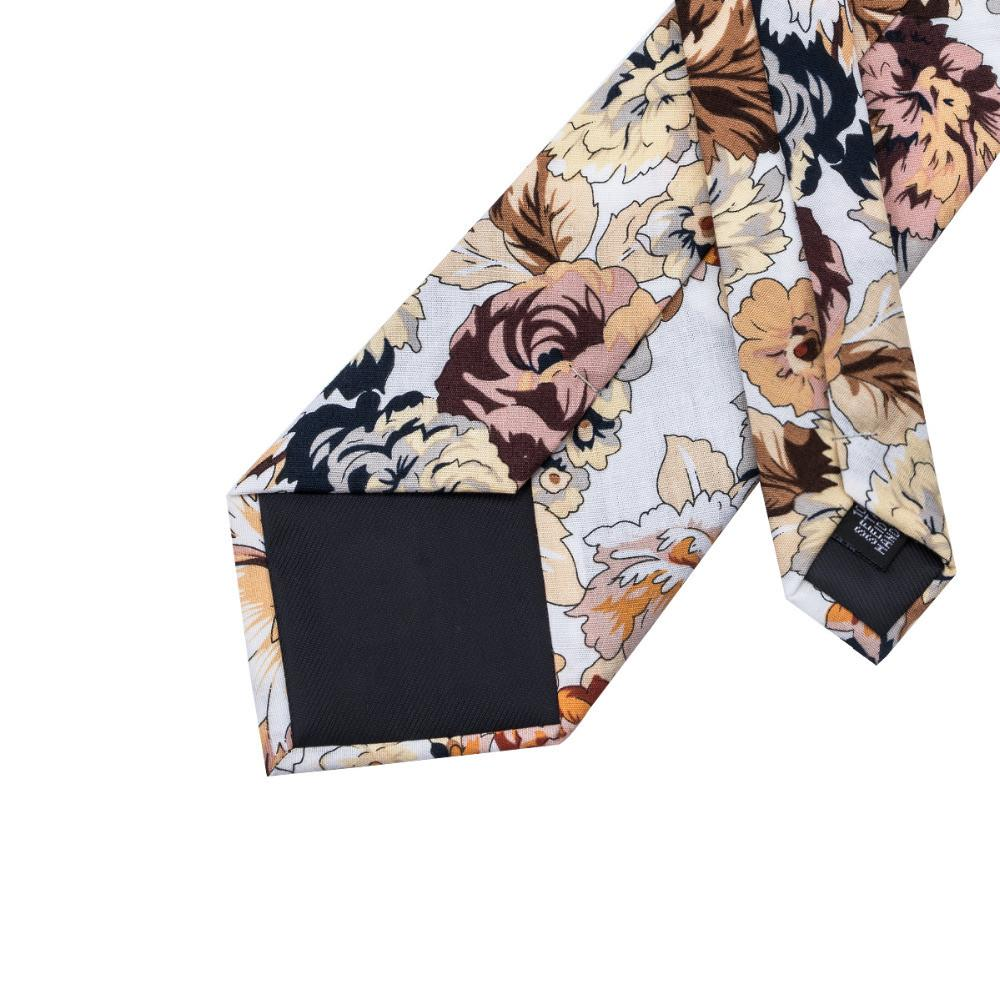 Active Jackets - NEW Floral Men Neck Tie & Hanky Cufflinks Set
