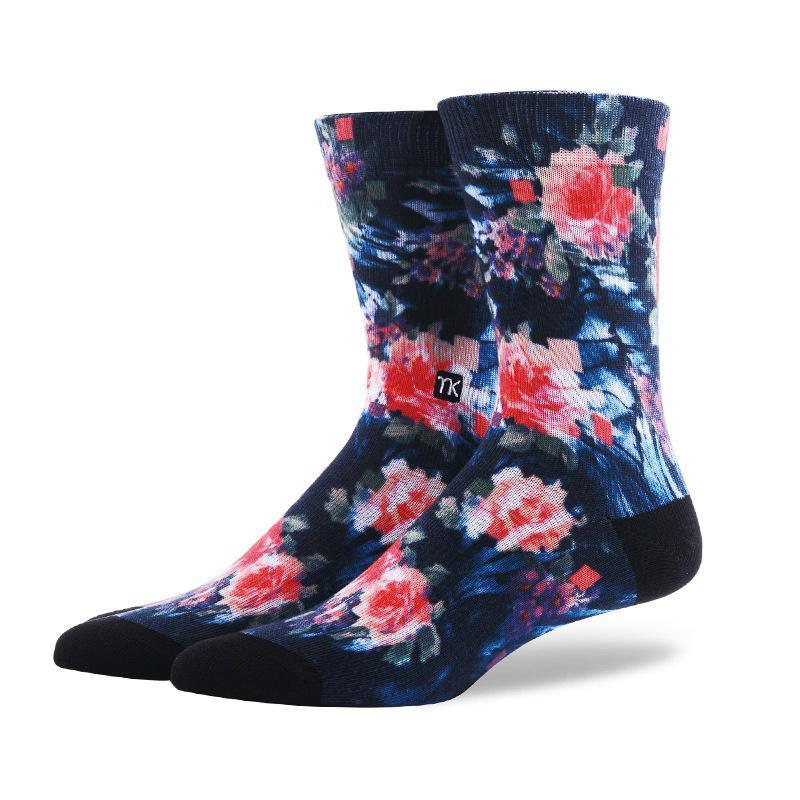 Floral Fashion Art Socks