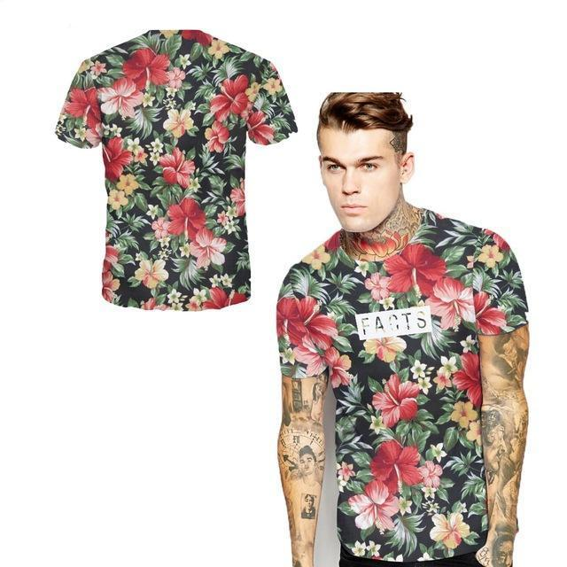 New Style Floral Island  T-shirt