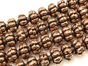 Beautiful Solid Copper Bali Style Spacer Beads, Handmade Copper Beads 25 Pcs
