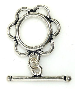 92.5 Sterling Silver Toggle Clasp, Solid Sterling Silver 18 mm Toggle Clasp Connector