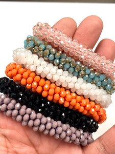 Natural Crystal Bracelet, Crystal Beads Rope Bracelets 6 Pcs Lot