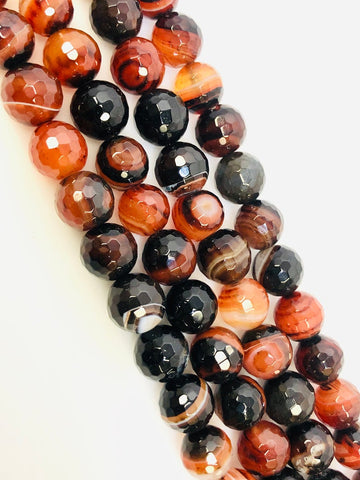 Natural Coffee Brown Agate Beads, Agate Smooth Beads, Round Shape Beads