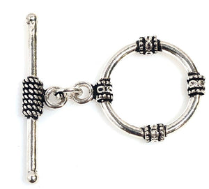 92.5 Sterling Silver Toggle Clasp, Solid Sterling Silver 30 mm Toggle Clasp Connector