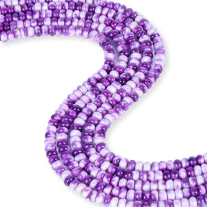 Purple Rain Jasper Rondelle Smooth 6mm Gemstone Beads for Jewelry Making