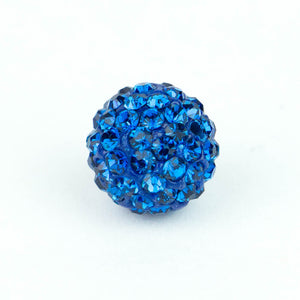 Crystal Pave Beads 12 mm Sapphire