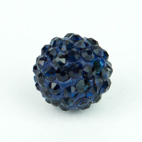 Crystal Pave Beads 10 mm Navy