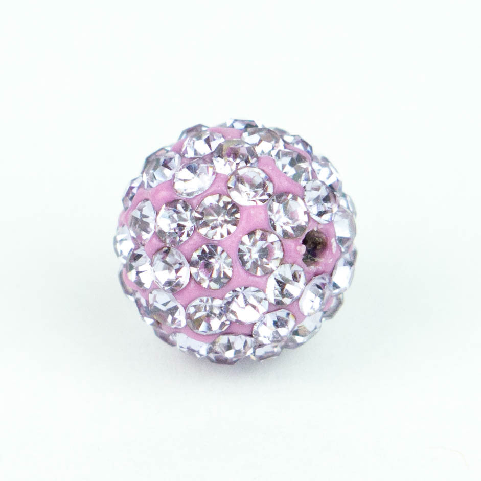 Crystal Pave Beads 10 mm Lt.Iris