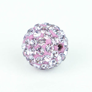 Crystal Pave Beads 12 mm Lt.Iris