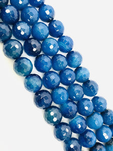 Natural Royal Blue Indian Agate Beads, Agate Smooth Beads,12mm Round Shape Beads