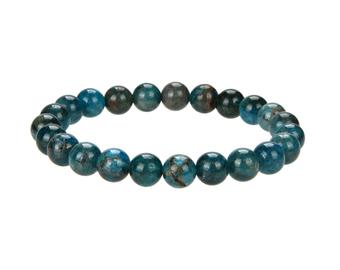 Natural Apatite Beaded Bracelets, Apatite Round 8 mm Beaded Bracelets