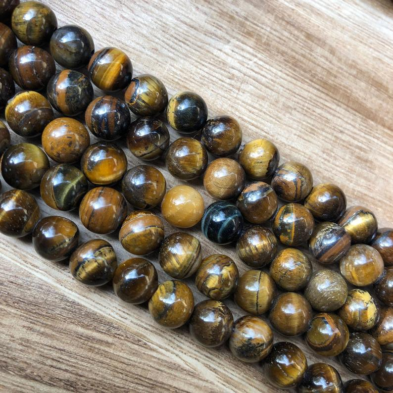 Natural Hawlite Tiger Eye Smooth Beads, Tiger Eye Round Shape 8 mm Faceted Beads