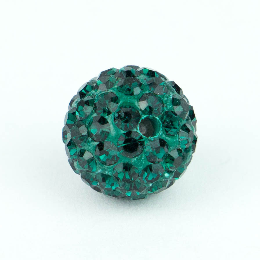 Crystal Pave Beads 10 mm Emerald