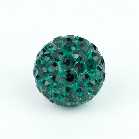 Crystal Pave Beads 8 mm Emerald
