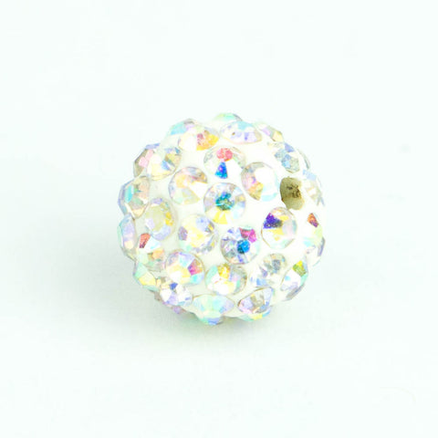 Crystal Pave Beads 10 mm Crystal AB