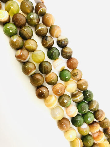 Natural Multicolor Indian Agate Beads, Agate Smooth Beads,Round Shape Beads 10mm