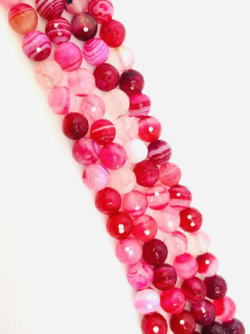 Natural Pink Indian Agate Beads, Agate Smooth Beads Round Shape Beads 8mm
