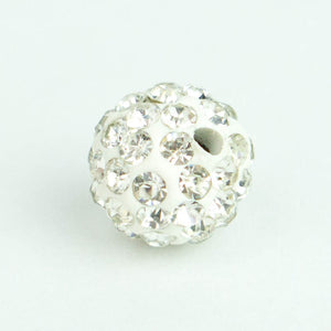 Crystal Pave Beads 10 mm Crystal