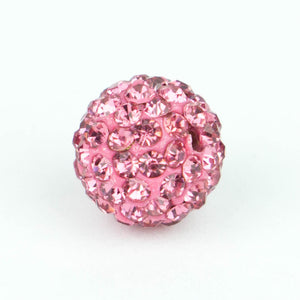 Crystal Pave Beads 12 mm Rose