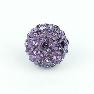 Crystal Pave Beads 10 mm Iris