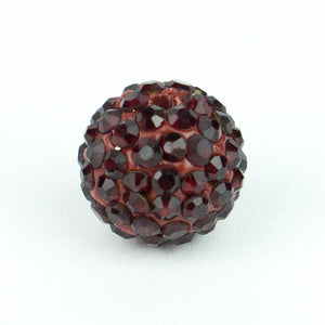 Crystal Pave Beads 10 mm Siam