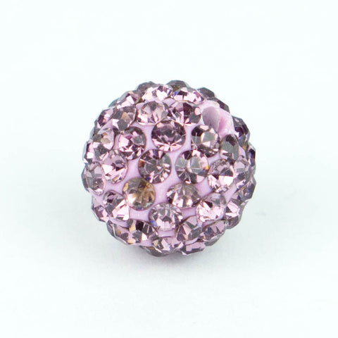 Crystal Pave Beads 12 mm Lt. Amethyst